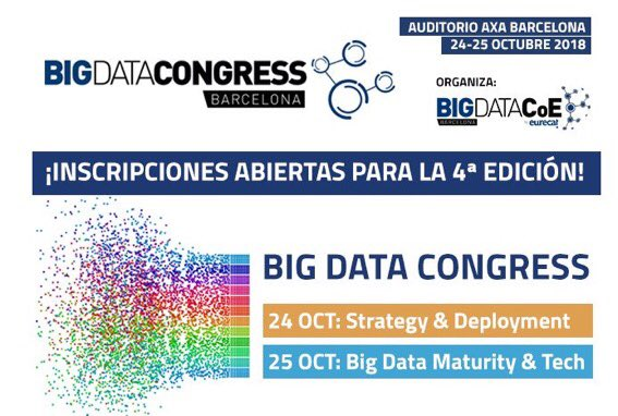Inscripcions obertes per al BIG DATA CONGRESS 2018