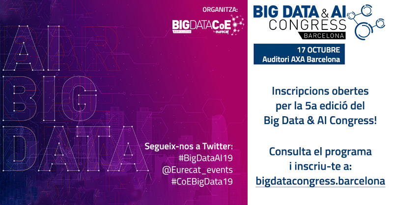 Inscripcions obertes per assistir al Big Data & AI Congress